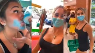 Influencer si dipinge una mascherina sul volto per saltare i controlli: denunciata