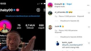 Khaby, l'italiano più famoso di TikTok, ha più follower di Mark Zuckerberg. E lui gli scrive