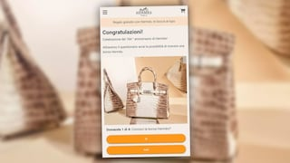 Non rispondere al messaggio WhatsApp che ti regala una borsa Hermes: è una truffa