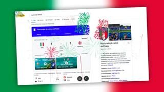 Anche Google festeggia la Nazionale: fuochi d'artificio tricolore nel motore di ricerca