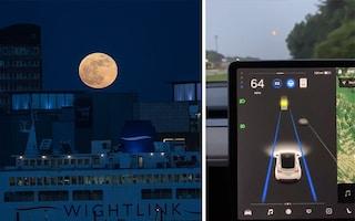 L'autopilota delle Tesla scambia la Luna per un semaforo giallo e rallenta la macchina