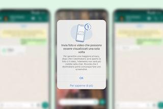 Ora su WhatsApp foto o video si autodistruggono: ecco come fare