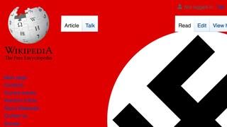Un vandalo ha riempito Wikipedia di svastiche giganti