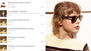 Perché su TikTok stanno girando due versioni uguali delle canzoni di Taylor Swift