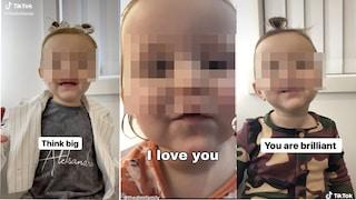 """""""Devi amare te stesso"""": i video motivazionali di una bambina sono virali su TikTok"""