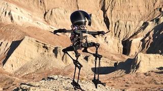 Questo robot può camminare su due gambe, volare e stare in equilibrio sui fili