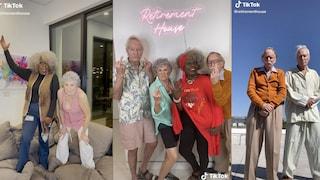 """Quattro anziani tiktoker hanno creato la loro """"Hype House"""": hanno già 1 milione di follower"""