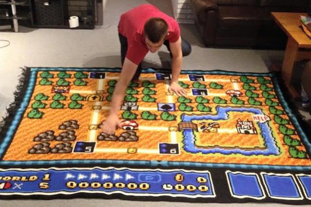 super mario bros 3 mappa tappeto