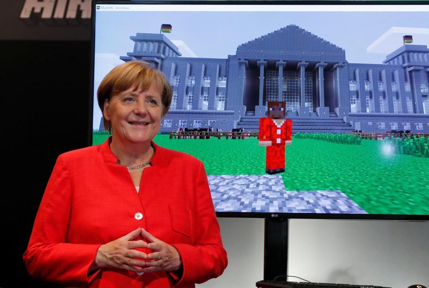 Angela merkel gamescom