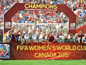 Gli Stati Uniti festeggiano per la vittoria del Mondiale femminile giocato in Canada