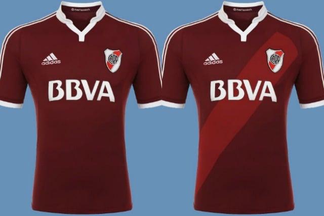 Le maglie del River Plate colorate di granata in onore del Grande Torino