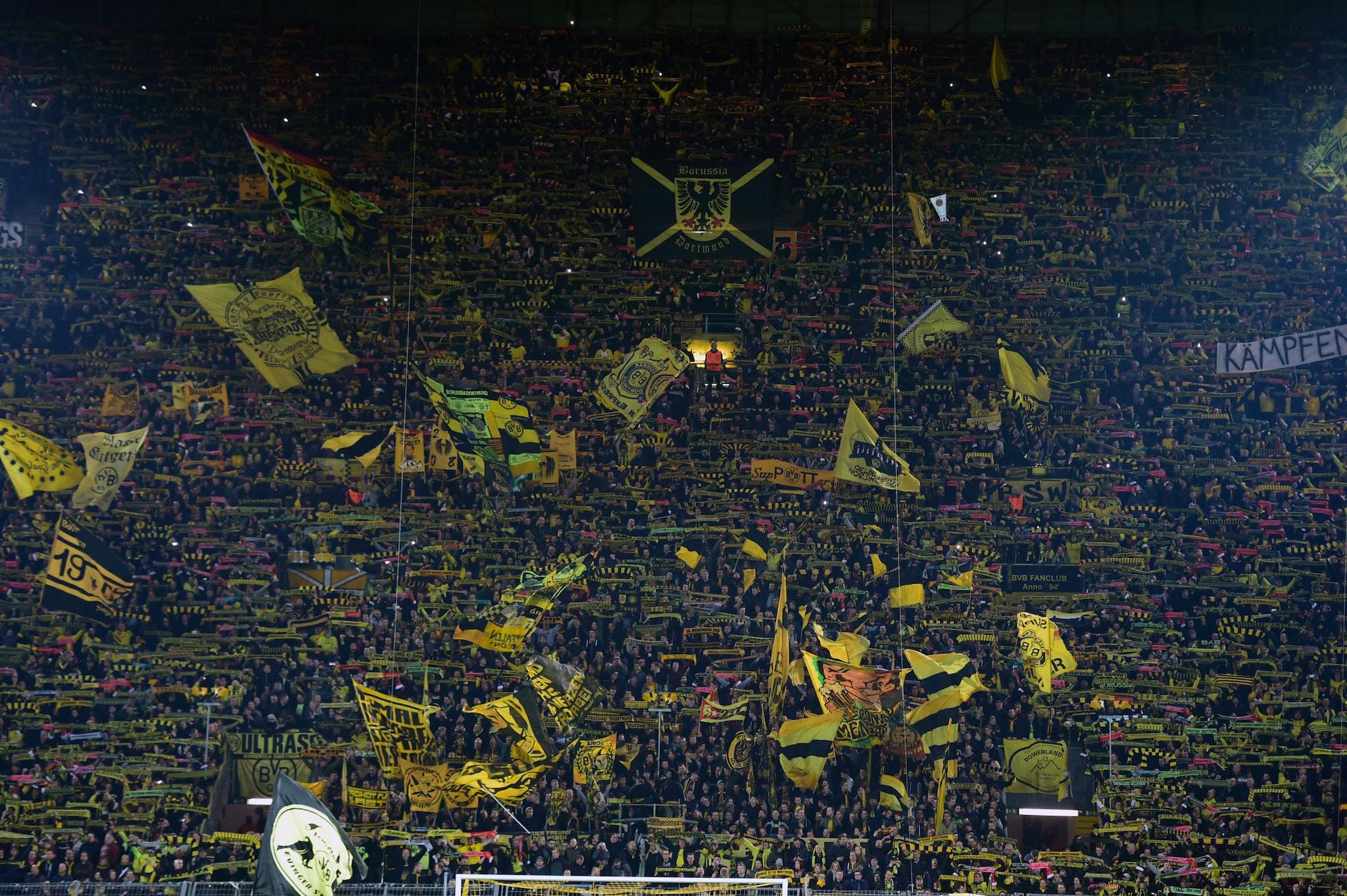 Gli appassionati e affezionatissimi tifosi del Borussia Dortmund.