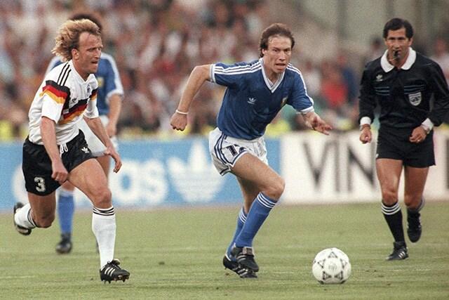 Brehme, uno dei tre interisti nella finale di Italia '90, realizzò il gol decisivo contro l'Argentina.