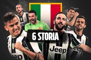 Inchinatevi alla Juventus, il sesto scudetto è per la storia