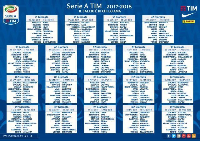 Calendario Particolare.Calendario Serie A 2017 18 Avvio Soft Per Juve E Milan Piu