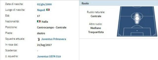 Scheda anagrafica di Manolo Portanova (fonte Transfermarkt.com)