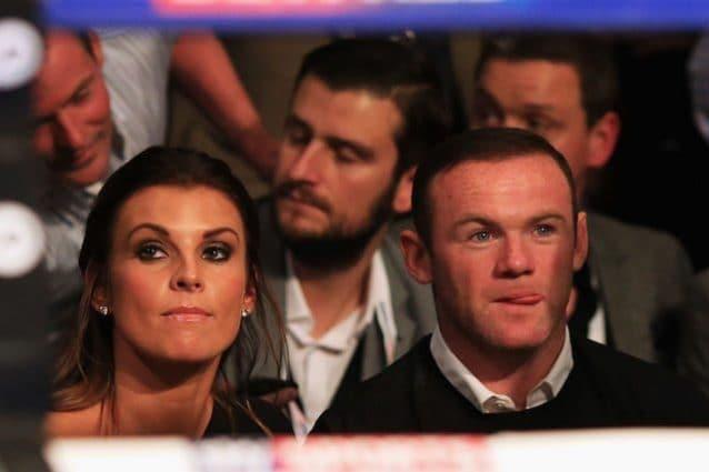 Rooney in compagnia di sua moglie Coleen
