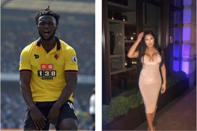 Il calciatore del Watford Success e Alexis Domerge (foto Instagram)
