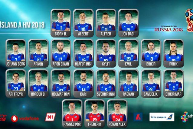 La lista ufficiale dei 23 convocati dell'Islanda per il Mondiale 2018
