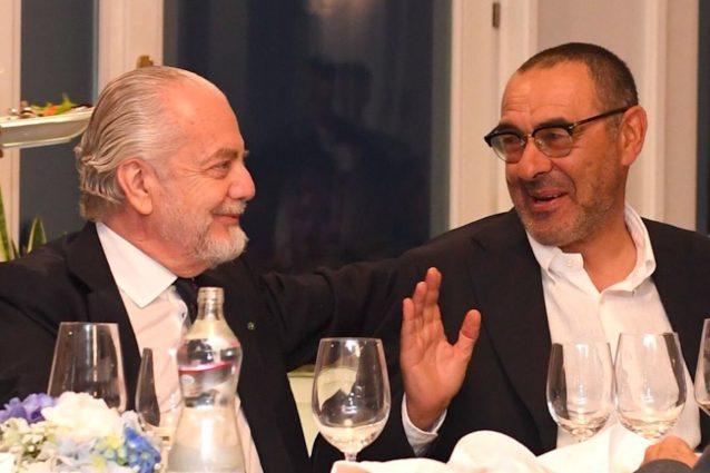 De Laurentiis e Sarri – Foto da Twitter Napoli