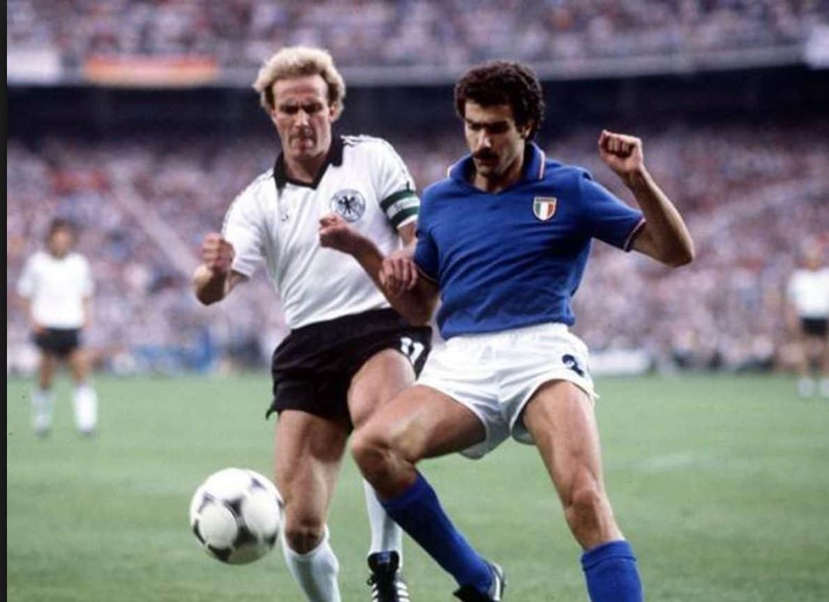 Un giovanissimo Bergomi nella finale Mundial del 1982.