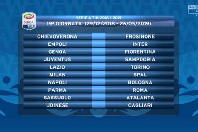 Calendario Partite Empoli.Diretta Sorteggio Calendario Serie A 2018 2019 Calcio Fanpage