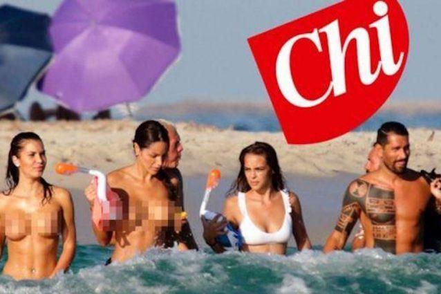 La foto di Marco Borriello a Ibiza apparsa qualche settimana fa su Chi