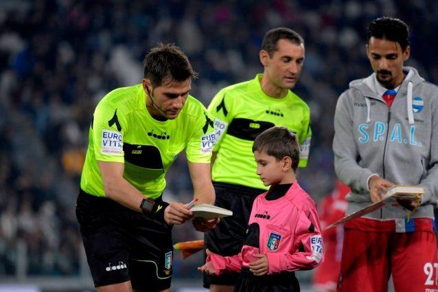 L'arbitro Fabrizio Pasqua designato per la gara della Juventus a Verona col Chievo