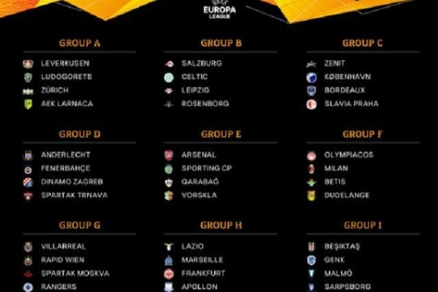 Calendario Europa League Ottavi.Europa League 2018 19 Calendario Con Date E Orari Delle