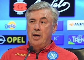 """Napoli, Carlo Ancelotti: """"Botta per Mertens, situazione da valutare"""""""
