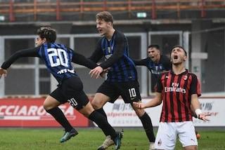 Primavera, l'Inter conquista il derby al 94': battuto il Milan 4-3