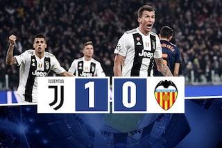 Basta un gol di Mandzukic per andare agli ottavi di Champions: Juve batte Valencia 1-0
