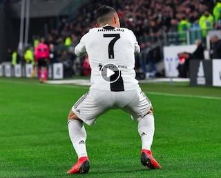 L'esultanza con gli squat di Cristiando Ronaldo è un'altra dedica per Georgina