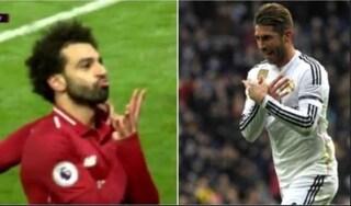 L'esultanza di Salah è uno sfotto' rivolto a Sergio Ramos