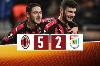 Milan, dall'inferno al paradiso: Dudelange battuto 5-2 e qualificazione più vicina