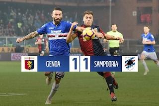 Quagliarella chiama, Piatek risponde: il derby di Genoa finisce 1-1