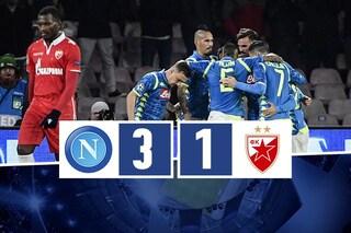Il Napoli batte la Stella Rossa, ma dovrà giocarsi la qualificazione a Liverpool