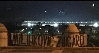 """Lazio, lo striscione razzista della curva Nord contro Milinkovic-Savic: """"Zingaro"""""""