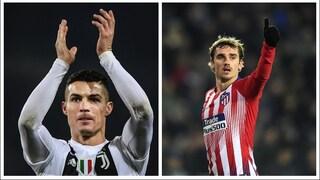 Juve-Atletico Madrid, la sfida dei due delusi del Pallone d'Oro: CR7 contro Griezmann