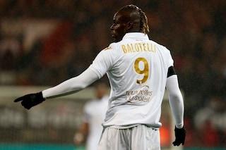 Nizza, Balotelli reagisce male alla sostituzione e attacca Vieira