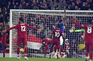 Il Liverpool vince il derby con l'Everton al 96', esultanza scatenata di Klopp