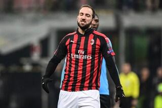 Milan, i problemi alla schiena di Higuain non preoccupano: col Torino ci sarà