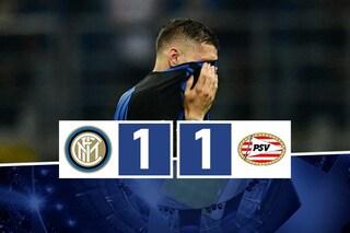 Non basta Icardi: l'Inter non riesce a battere un modesto PSV e finisce in Europa League