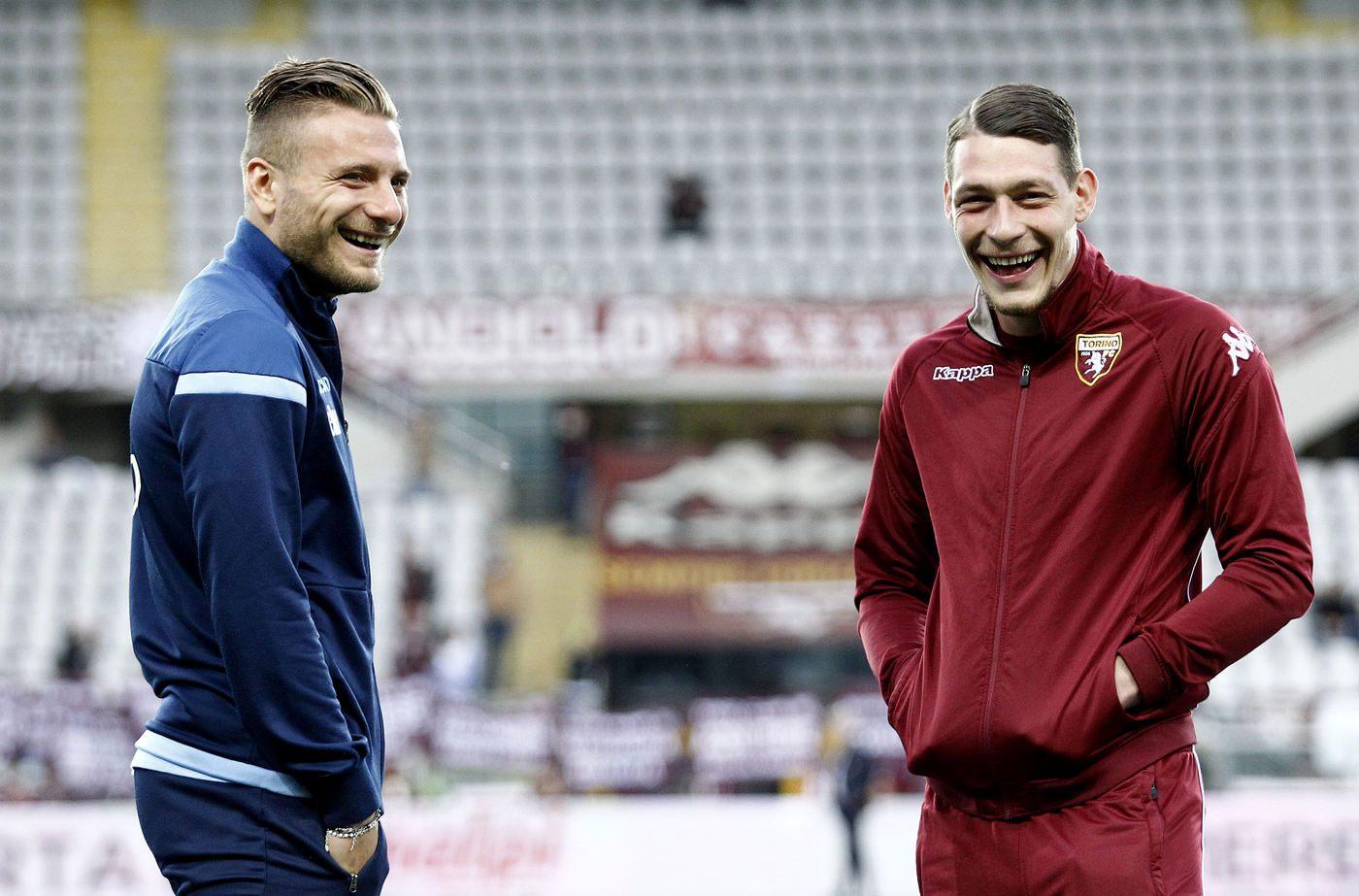 Immobile e Belotti, i due bomber di Lazio e Torino che puntano all'azzurro dell'Italia di Mancini
