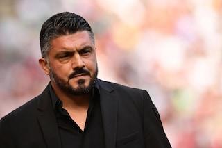 """Milan, Gattuso: """"Non ho gufato l'Inter, al terzo posto ora non ci penso"""""""