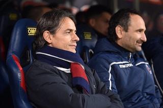"""Bologna, Inzaghi: """"Vogliono prendersela con me? Ho le spalle larghe"""""""