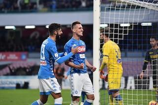 Napoli forza sette, Ancelotti rivitalizza Milik: l'ex Ajax raggiunge Mertens e Insigne