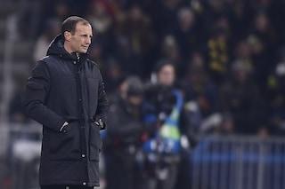 """Juventus, Allegri: """"Dispiace per la sconfitta, ma primo posto meritato"""""""