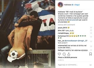 """Riccardo Saponara e la foto hot dopo il gol in Lazio-Sampdoria: """"Tonelli mi ha smutandato"""""""