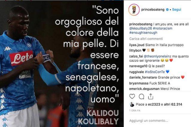 Cristiano Ronaldo e Boateng, sostegno a Koulibaly: